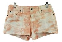 Zana Di Jean Shorts Tie Dyed Medium Rise Pink White Size 9