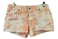 Zana Di Jean Shorts Tie Dyed Medium Rise Pink White Size 9