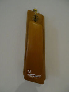 Brown Wood Clothes Brush With Wall Board With Advertising 60er Years Design 1968