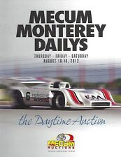 MECUM-CLASSIC CARS-MONTEREY CALIFORNIA-COMPLETE 3 DAY BUYERS CATALOGS-2012