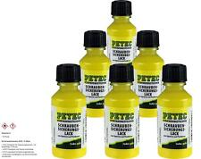 6x PETEC Thread Lock Paint Yellow 20ml Brush Bottle