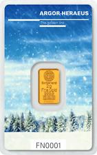 Following Nature Goldbarren 2g 2 Gramm Winter Argor Heraeus Blister Gold 99,99