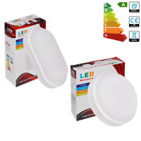White Oval OPAL LED Outdoor Bulkhead Security Light Ceiling Wall Down Lamp IP65
