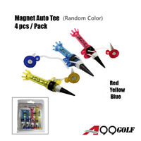 A99 Golf Pack of Magnet Tee 4pcs New Random Color Golf Auto Magnet Tees