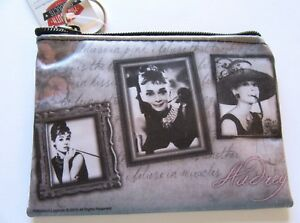 Audrey Hepburn Make-Up/ Cosmetic Bag Pouch- 3 pictures I believe in Pink