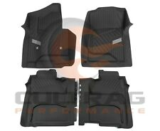 2015-2018 Sierra Crew Cab Front & Rear All Weather Floor Liners Black