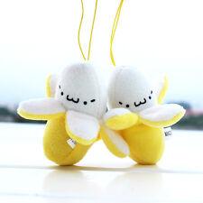 Banana Peel Phone Bag Pendant Ornament Vivid Lovely Fancy Plush Toy Dolls Gift
