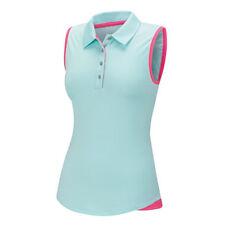 Adidas Women Essentials 3 Stripes Sleeveless Polo (S) B83236 Blue