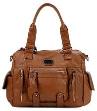 Shoulder Bag Soft Multi Pocket with 2 Top Zipper Closures H1630 15x11.5x4.6 Inch