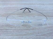 Silhouette Titan Silver & Black Rimless Eye Glasses 7611 10 6050 51 150 7799 NEW