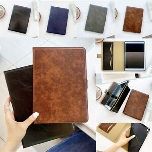 Smart Magnetic Leather Folio Stand Case Cover Card Slots For Apple iPad Models