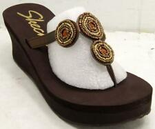 Skechers Cali Pinups-Belly Dance Flip Flop Chocolate Women's Sandals Sz 11 M