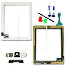Digitizer Touch Screen Bianco Vetro Telaio Lunetta HOME PULSANTE FLEX PER iPad 2 Strumenti