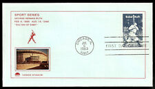 Babe Ruth First Day Cover - Scott 2046 with Photo Cachet of Yankee Stadium