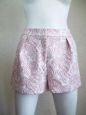 VICTORIA BECKHAM Target Bohemian Blush PAISLEY Pleated Matelassé Shorts 10 NWT