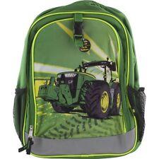 John Deere Tractor School Backpack Book Bag Boys Green