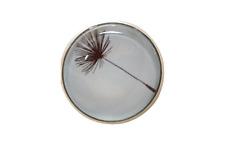 Tuchhalter,Magnet,Brosche aus Edelstahl.Handgemacht!20mm,Pusteblume schwarz/blau