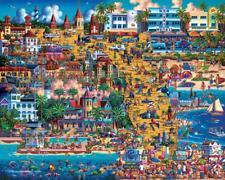 DOWDLE FOLK ART COLLECTORS JIGSAW PUZZLE BEST OF FLORIDA 500 PCS #00407