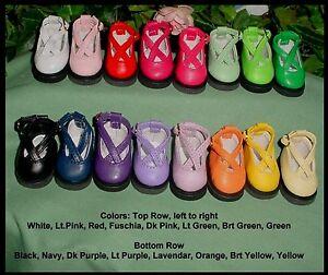 """Cutie KK Shoes, 45mm WHITE fits 10"""" Patsy, Ann Estelle (FAR LEFT TOP)"""