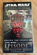 Rare Star Wars: Episode 1 The Phantom Menace Behind the Scenes VHS UK Fan Club