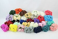 5.5cm Foam Rose Flowers x 72 Flower Heads 12 Bunches Colourfast Artificial