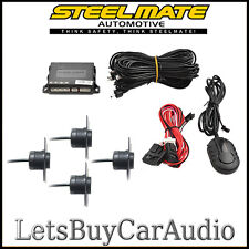 STEELMATE PTS400EX-DP-OE (FLUSH FIT) MATT BLACK REAR PARKING SENSORS WITH BUZZER