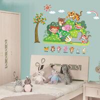 Wandtattoo Wandsticker Wandbild  Kinderzimmer Funny Animals Bunt Neu #45