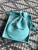 """Tiffany & Co Size 5 Graffiti Ring Sterling Silver """"xo"""" Hug Kisses Band"""