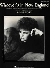 Whoever's In New England - Reba McEntire- 1986 US sheet music