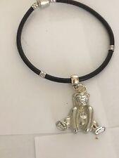 Bear TG76 en una pulsera serpiente plata imitación de cuero