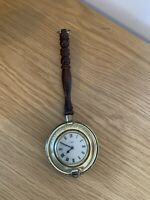 Antique Smiths Empire Miniature Clock - Solid Brass - Novelty Clock - Fully Work