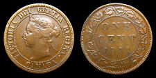 1891 Canada 1 One Large Cent Queen Victoria SDSL Obv 3 Lacquered F-15