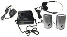 Rare Vintage - Sony D-T2 Discman Fm Am Cd Player Set W/ Speakers Phones Power