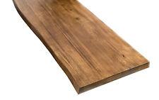50cm Holzplatte Tischplatte Eichenplatte Eiche Tisch massiv  Naturkante dark