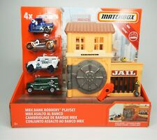 Matchbox MBX Bank Robbery Playset with 4 Diecast Cars NEW