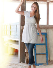 Bravissimo JERSEY TOP TUNIC in NAVY CREAM COLOR RRP £45 (38)