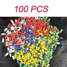 100x Car Auto T10 158 194 168 W5W Light Bulb LED WHITW BLUE RED YELLOW GREEN Lam