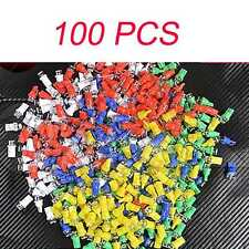 100PCS WHITW BLUE RED YELLOW GREEN Car T10 158 194 168 W5W Light LED Lamp Bulb