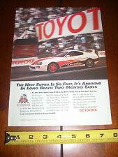 1993 TOYOTA TWIN TURBO LONG BEACH GRAND PRIX PACE CAR - ORIGINAL AD