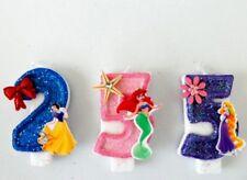 Disney princess Birthday Candle. cake topper, cupcake topper