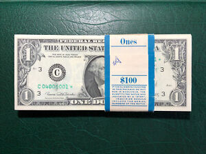 #100 1969D $1.00 FRN Pack C04006001*—100*