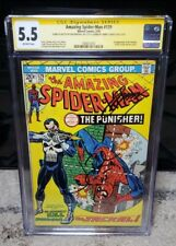 Amazing Spider-Man #129 CGC 5.5 1st App of Punisher Signed by Bernthal & Conway