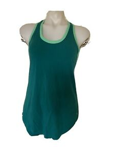 Womens Size S Green Danskin Drimore Racerback Tank Top