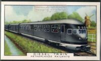 1934 Netherlands Railways Diesel Train 80+ Y/O Trade Ad Card