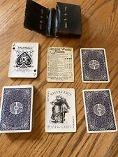 Antique Kalamazoo Playing Cards Strollers Bridge Rare