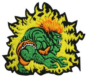 Street Fighter Blanka Hero Embroidered Sew-on / Iron-on / Hook & Loop Patch
