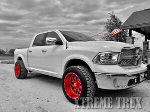 Paintable Black 09-18 Dodge Ram 1500 OE Fender Flares Bolt On No Drill Smooth