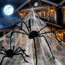 Halloween Spinnennetz Gigant Horror Grusel Party Hänge Deko 7x5.5 / 5x4.8 M