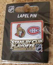 2015 Stanley Cup Playoffs pin NHL SC Ottawa Senators vs Montreal Canadiens I