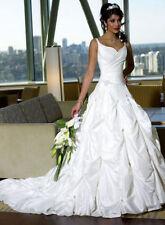 Buy taffeta wedding dress ebay a line junglespirit Gallery